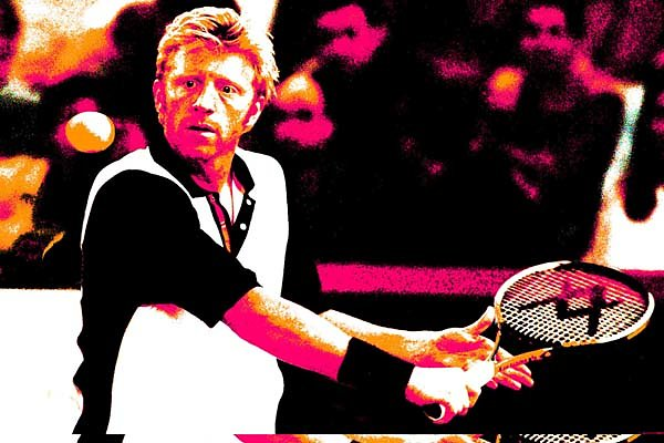 Boris Becker back on court
